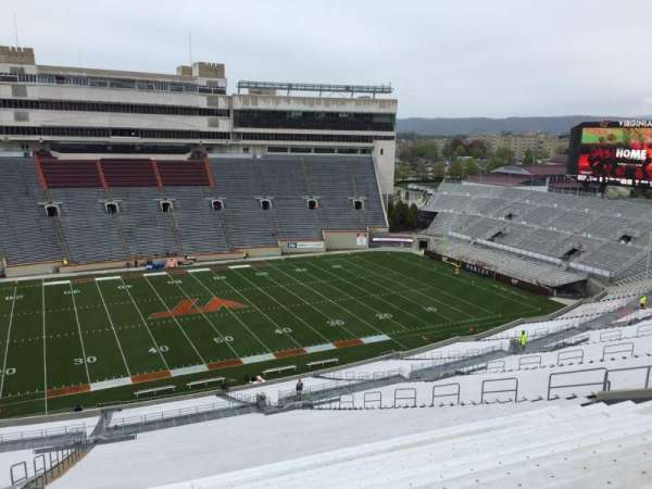 Lane Stadium, section: 33, row: 4R, seat: 12
