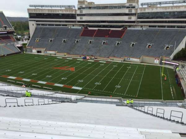 Lane Stadium, section: 23, row: 4K, seat: 21