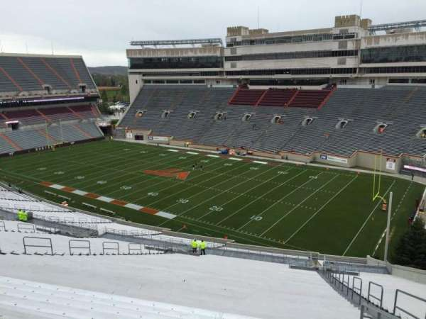 Lane Stadium, section: 21, row: 4K, seat: 7