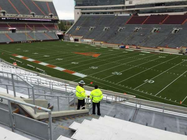 Lane Stadium, section: 3, row: SS, seat: 18