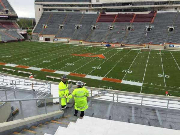 Lane Stadium, section: 7, row: RR, seat: 12