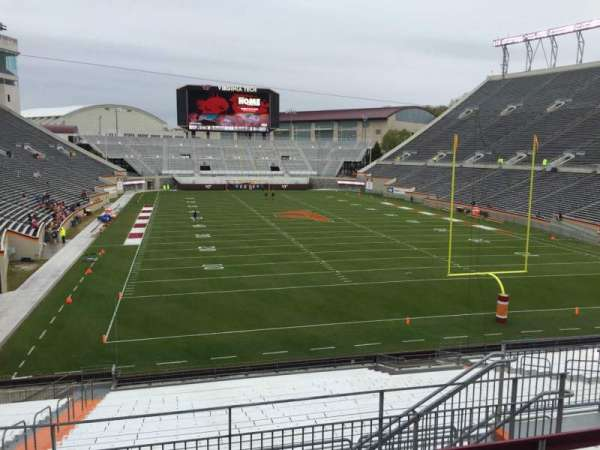 Lane Stadium, section: 205, row: F, seat: 9