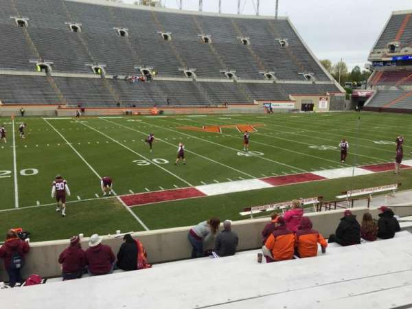 Lane Stadium, section: 6, row: Q, seat: 14