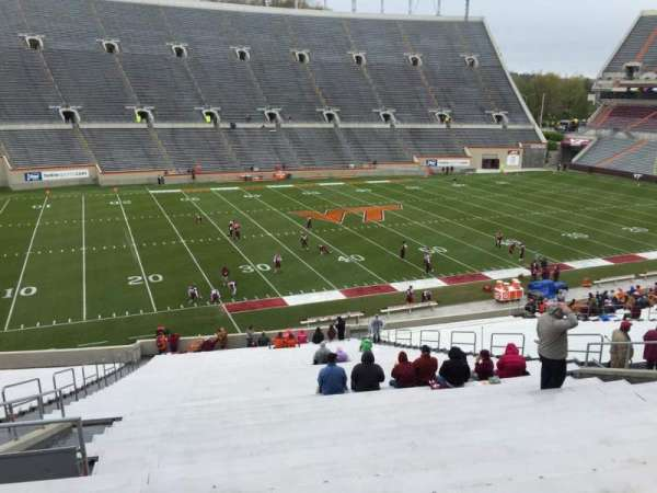 Lane Stadium, section: 6, row: XX, seat: 16