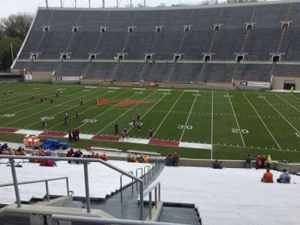 Lane Stadium, section: 14, row: SS, seat: 6