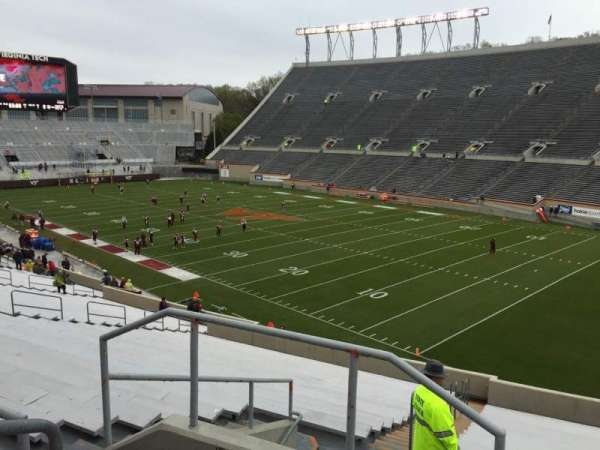 Lane Stadium, section: 20, row: Rr, seat: 4