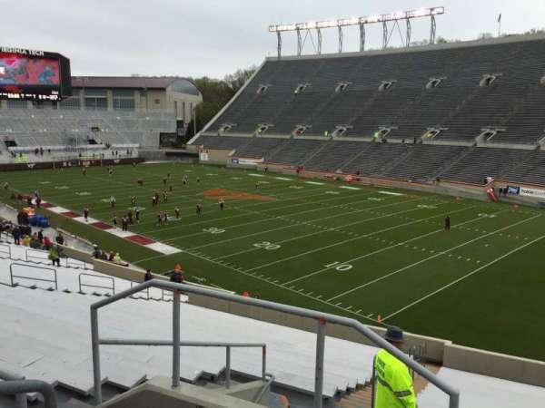 Lane Stadium, section: 20, row: Rr, seat: 4