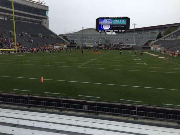 Lane Stadium, section: 102, row: H, seat: 20