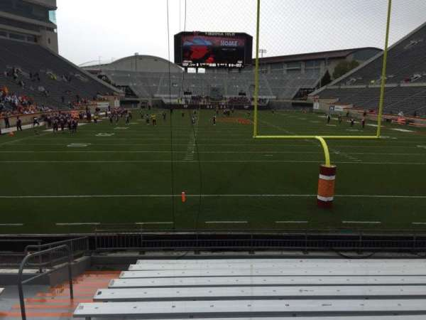 Lane Stadium, section: 103, row: M, seat: 27