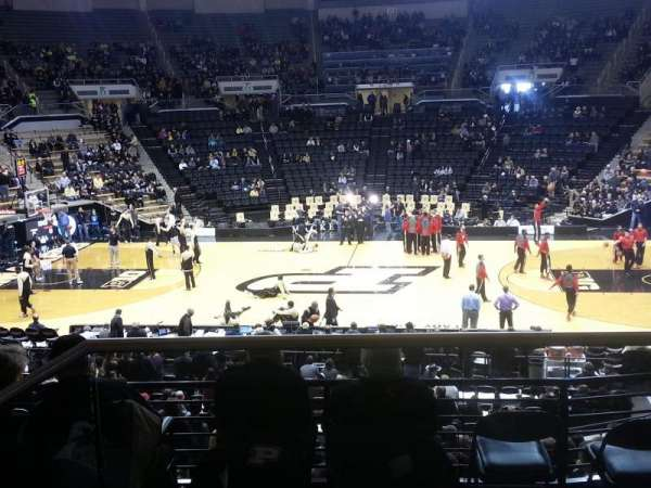 Mackey Arena, section: 101, row: 2, seat: 1