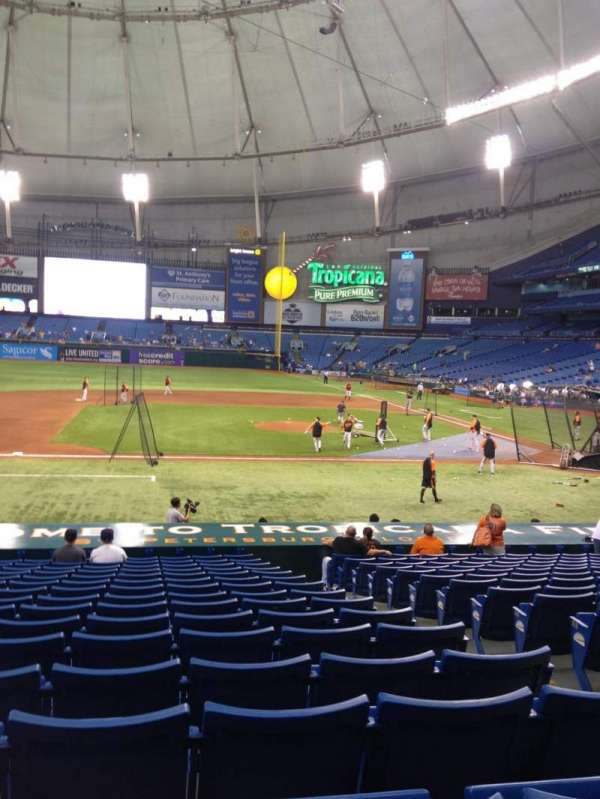 Tropicana Field, section: 114, row: AA, seat: 7