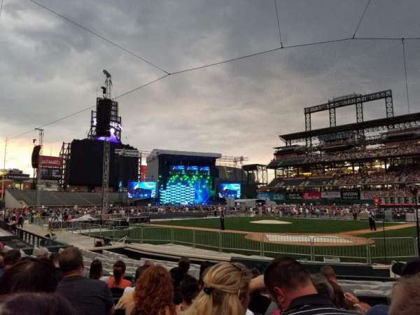 Coors Field, section: 132, row: 10, seat: 1