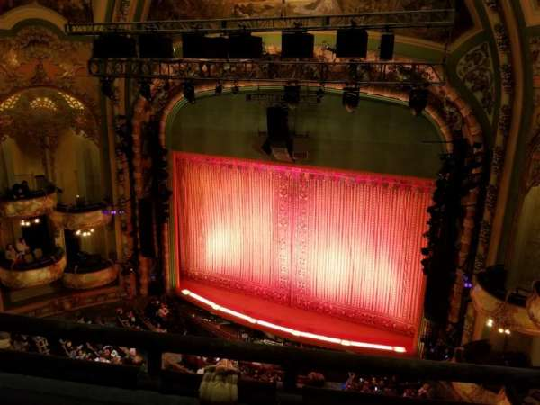 New Amsterdam Theatre, section: Balcony Right, row: B, seat: 10
