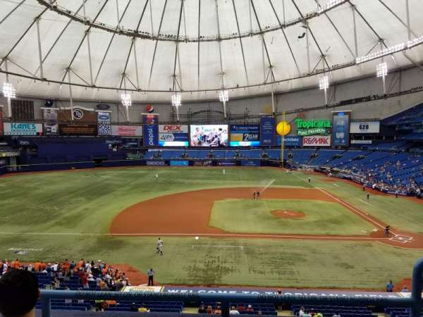 Tropicana Field, section: 211, row: C, seat: 18