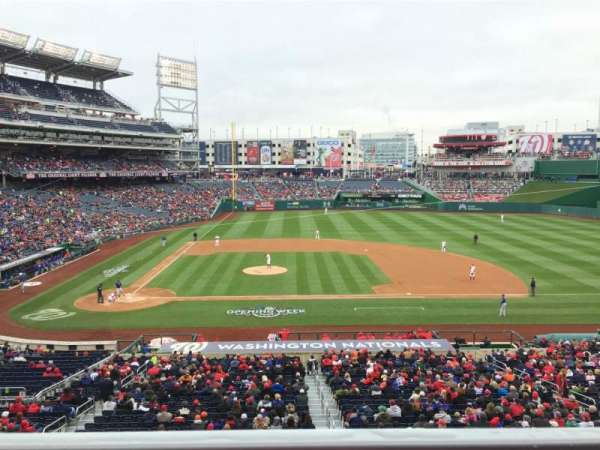 Nationals Park, section: 218, row: A, seat: 5