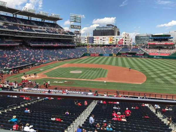 Nationals Park, section: 219, row: A, seat: 1