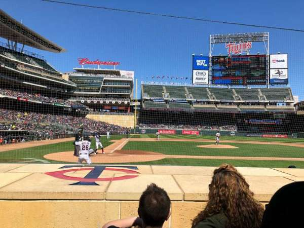 Target Field, section: 6, row: 7, seat: 9
