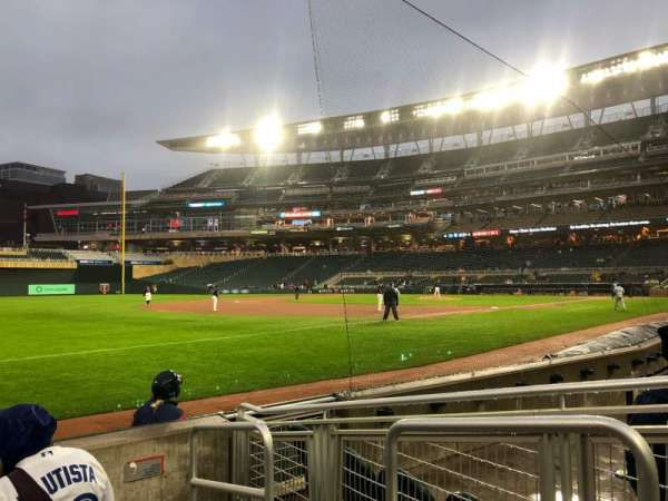 Target Field, section: 124, row: 5, seat: 1
