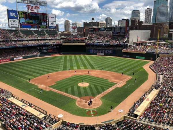 Target Field, section: 216, row: 1, seat: 1