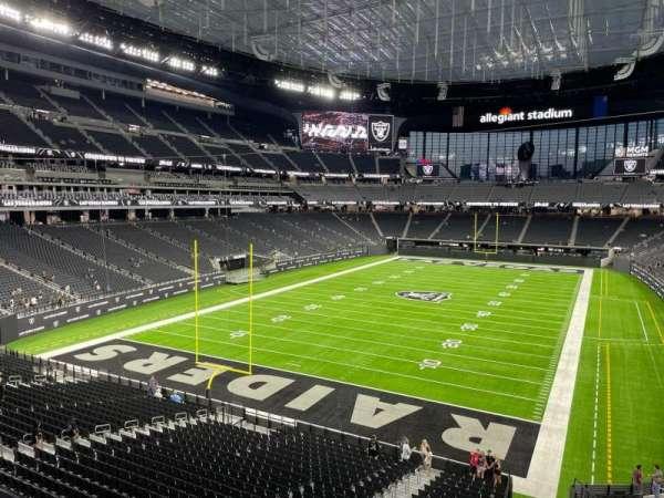 Allegiant Stadium, section: 223, row: 1, seat: 8