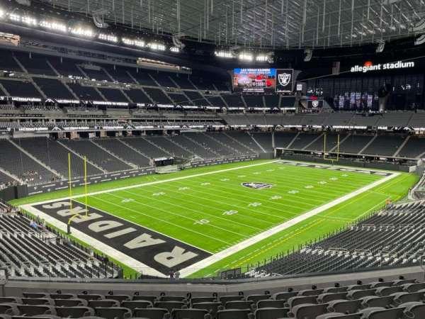 Allegiant Stadium, section: 220, row: 9, seat: 11