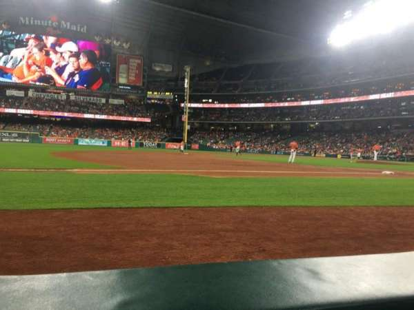 Minute Maid Park, section: 111, row: 1, seat: 1