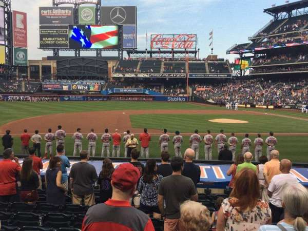 Citi Field, section: 18, row: 16, seat: 8
