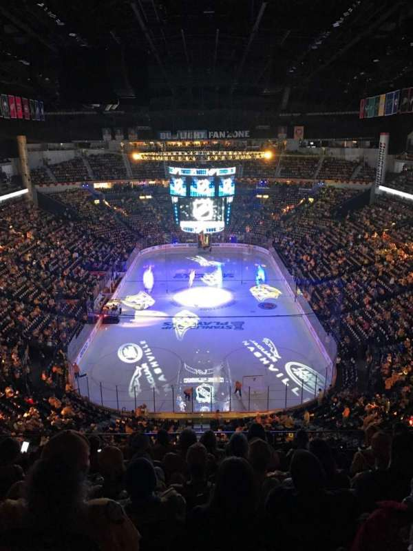 Bridgestone Arena, section: 301, row: H, seat: 11
