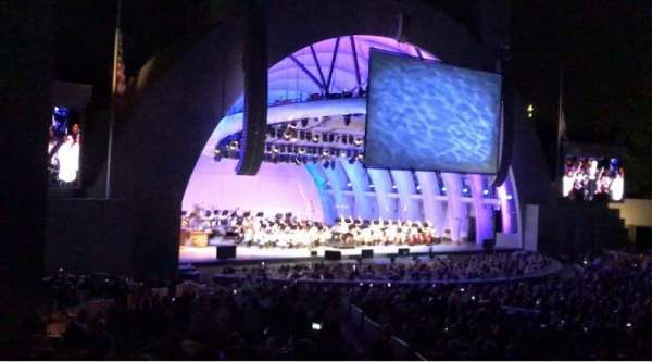 Hollywood Bowl, section: E, row: 11, seat: 7