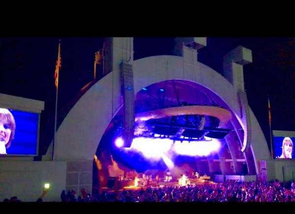 Hollywood Bowl, section: E, row: 1, seat: 11