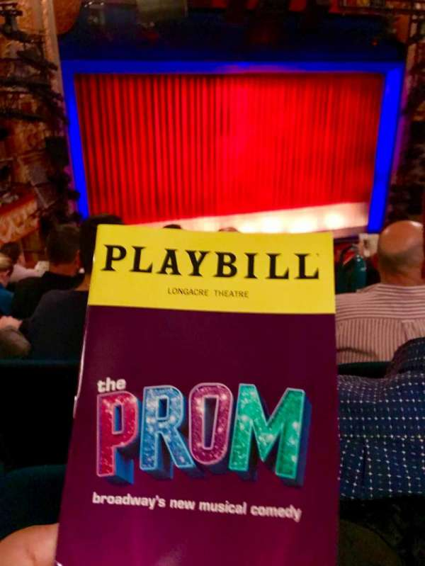 Longacre Theatre, section: Mezz Left, row: F, seat: 7
