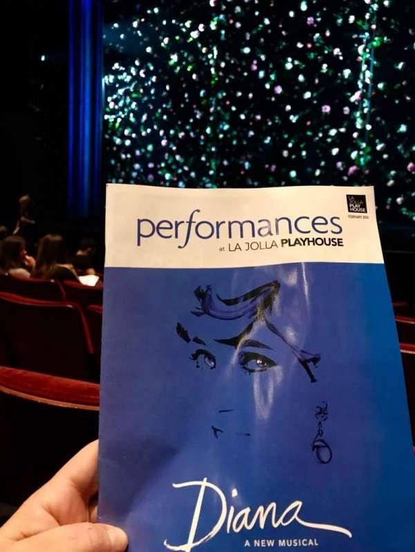 La Jolla Playhouse, section: Orch, row: E, seat: 6
