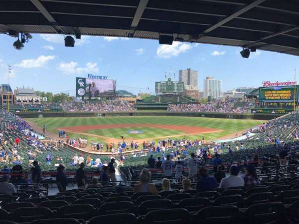 Wrigley Field, section: 222, row: 12, seat: 4