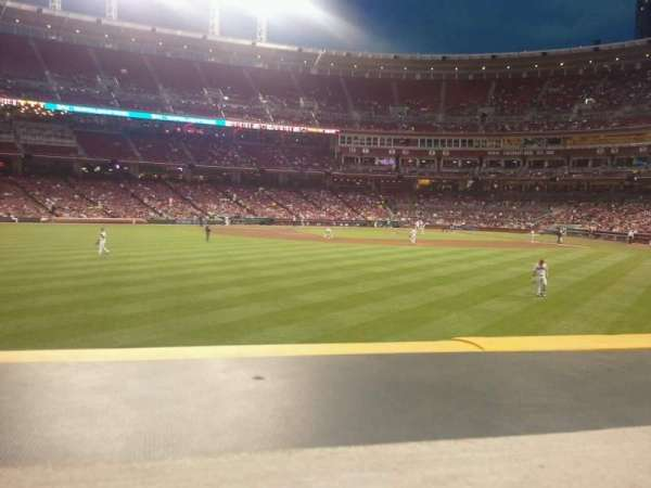 Great American Ball Park, section: 102, row: a, seat: 7