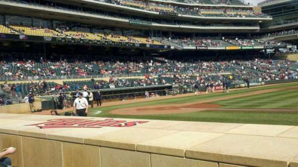 Target Field, section: 5, row: 7, seat: 1