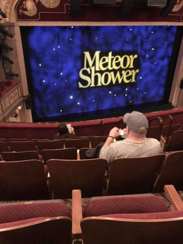 Booth Theatre, section: Mezzanine, row: F, seat: 7