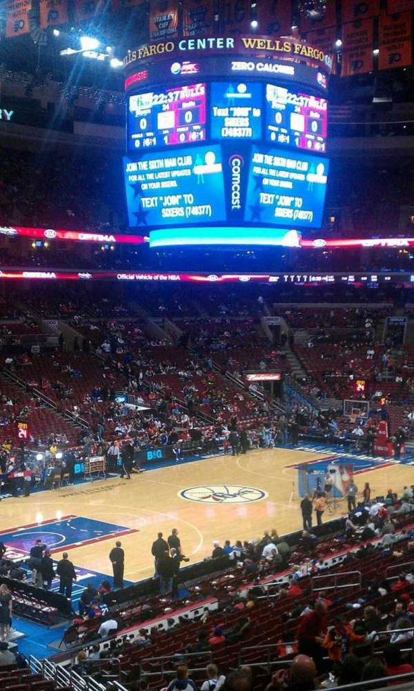 Wells Fargo Center, section: Club Box 10, row: 7, seat: 5