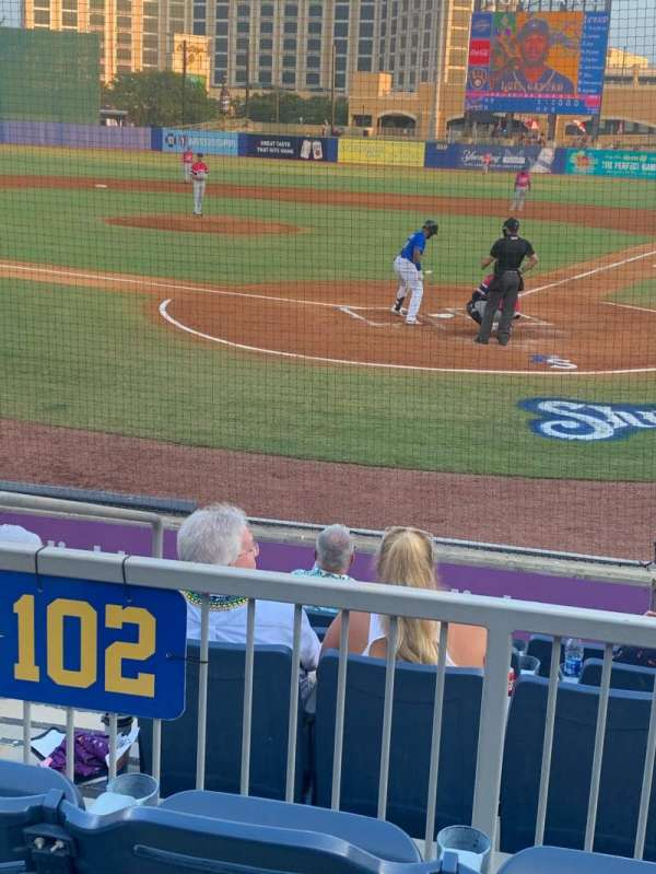 MGM Park, section: 102, row: G, seat: 8