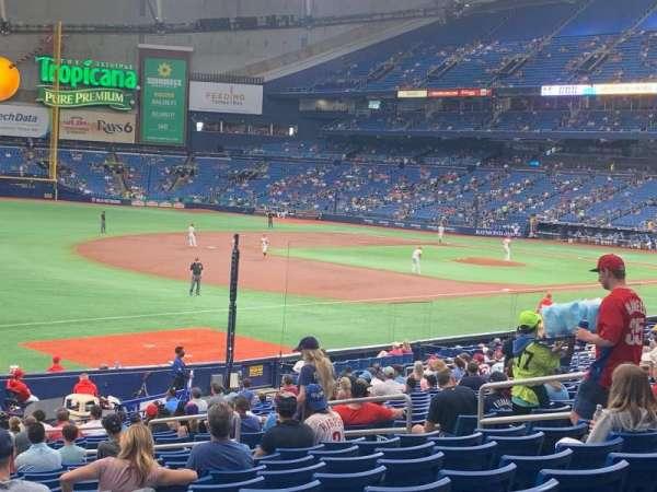 Tropicana Field, section: 129, row: FF, seat: 14