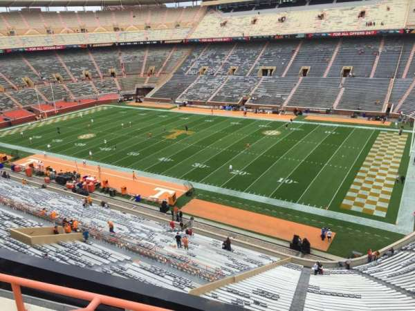 Neyland Stadium, section: QQ, row: 1, seat: 24