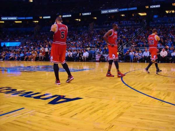 Amway Center, section: Courtside W, row: VP1, seat: 18