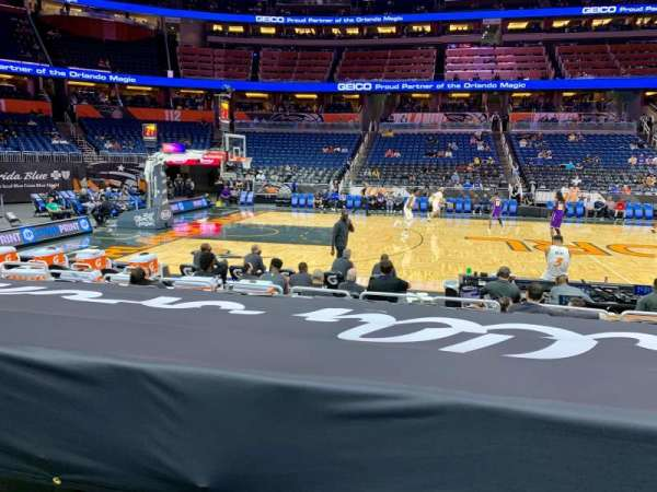 Amway Center, section: 106, row: 8, seat: 8