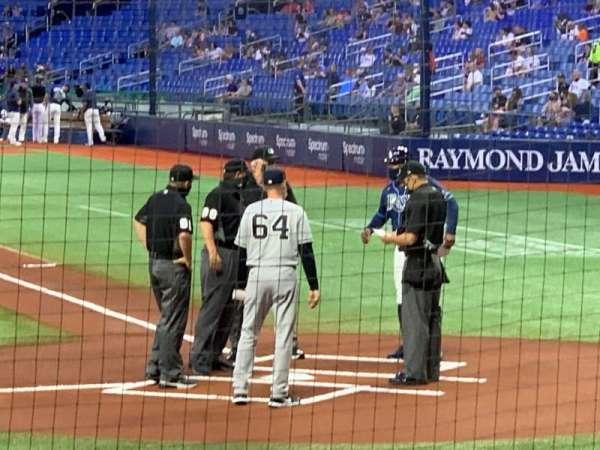 Tropicana Field, section: 111, row: N, seat: 10