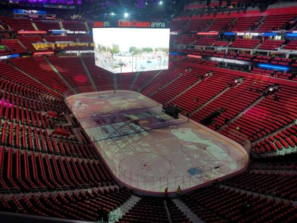 Little Caesars Arena, section: 221, row: 1, seat: 17