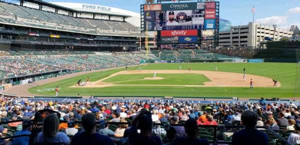 Comerica Park, section: 122A, row: A, seat: 1