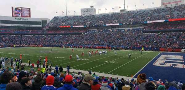 New Era Field, section: 107, row: 22, seat: 21