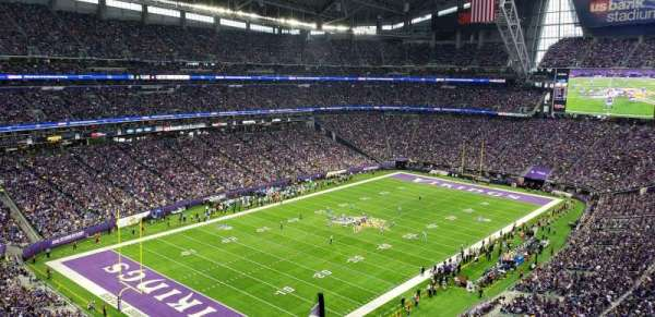 U.S. Bank Stadium, section: 349, row: E, seat: 1