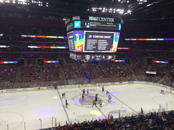 BB&T Center, section: Club 02, row: 1, seat: 13