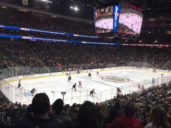 T-Mobile Arena, section: 13, row: V, seat: 4