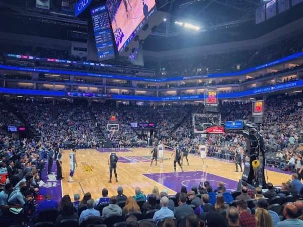 Golden 1 Center, section: 101, row: CC, seat: 15